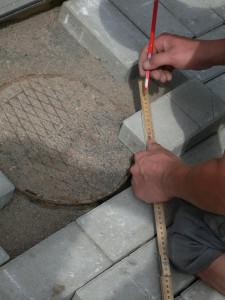 Stenläggning av gång