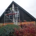 Byte av gavelpaneler, fönsterbleck och målning