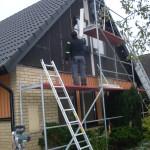Byte av gavelpaneler, fönsterbleck och målning2
