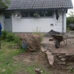 Stenläggning efter avslutad framdragning av vatten- Knästorp2