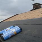 Läggning av takpapp på spånt (Mataki)